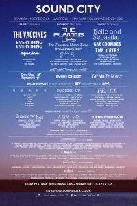 The 2015 Sound City line up