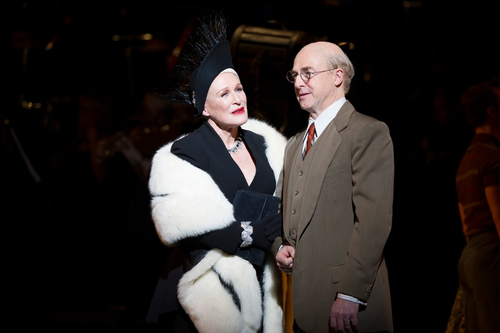 10. l-r Glenn Close (Norma Desmond), Julian Forsyth (Cecil B DeMille, photo by Richard Hubert Smith